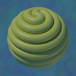 sphere wrapped in noodle
