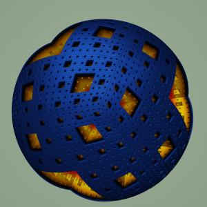 colorTrial Knighty's menger sphere