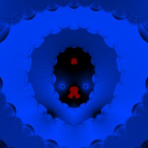 "Taylor series fractal 3 - ""Blue hell"""