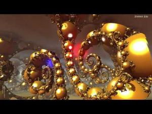 "(4K) The Golden Ferns of JosLeys-Kleinian--""Pretty""--3D Fractal Animation Music Video"
