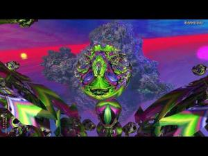 "(4K) Collatz Graffiti--""Scarbee Strawberry Jam""--3D Fractal Animation Music Video"