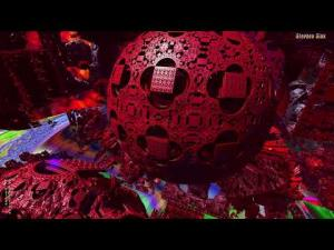 "Squaring the Sphere--""Sol  Invictus""--3D Fractal Animation Music Video"