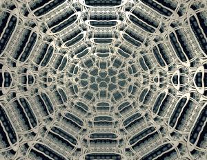 A silver web
