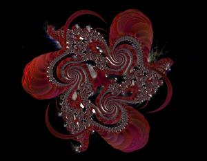 red flower crystal spiral.