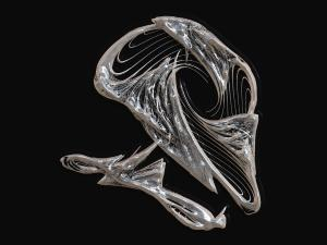 Alien skull in Chrome.