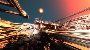 "2020-08-Theme ""Space""  Second place: 'Aurora VI Mining Station'"